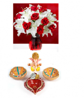 Pure Sophistication with Divine Diya Set Gifts toAmbad, Combinations to Ambad same day delivery