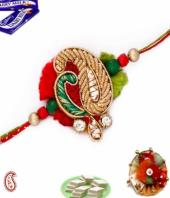 Zardosi Rakhi Gifts toHAL, flowers and rakhi to HAL same day delivery