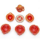 Diyas and Rangoli Gifts toOjhar, Diya with Rangoli to Ojhar same day delivery