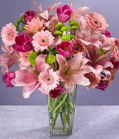 Pink Blush Gifts toHBR Layout, flowers to HBR Layout same day delivery