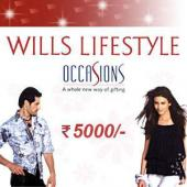 Wills Lifestyle Gift Voucher 5000 Gifts toAmbad, Gifts to Ambad same day delivery