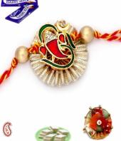 Ganesha Rakhi Gifts toHAL, flowers and rakhi to HAL same day delivery