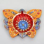 Butterfly Shaped Diya Gifts toAmbad, Diya Set to Ambad same day delivery