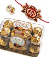 Sweet rakhi treat Gifts toBasavanagudi, flowers and rakhi to Basavanagudi same day delivery
