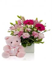 Surprise in Pink Gifts toRT Nagar, flowers to RT Nagar same day delivery