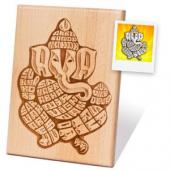 Wooden Engraved Plaque for Solo Portrait Gifts toKoramangala, arthi thali to Koramangala same day delivery
