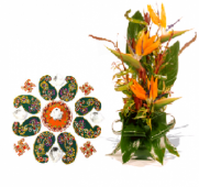 Festive Rangoli and Spring Delight Gifts toOjhar, Combinations to Ojhar same day delivery