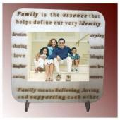 Personalized Family Photos on wood Desktop Gifts toOjhar, personal gifts to Ojhar same day delivery