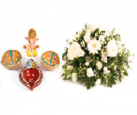 Divine Diya Set and Gift Harmony Gifts toOjhar, Combinations to Ojhar same day delivery