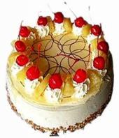 Cream Pineapple cake small Gifts toCox Town, cake to Cox Town same day delivery