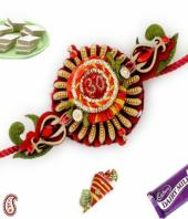 Om Rakhi Gifts toAmbad, flowers and rakhi to Ambad same day delivery