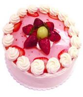 Strawberry cake small Gifts toOjhar, cake to Ojhar same day delivery