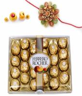Ferrero Rakhi Gifts toHanumanth Nagar, flowers and rakhi to Hanumanth Nagar same day delivery