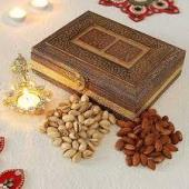 Dry fruit Gift in Engraved box Gifts toAmbad, dry fruit to Ambad same day delivery