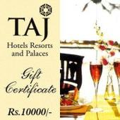 Taj Gift Voucher 10000 Gifts toAmbad, Gifts to Ambad same day delivery