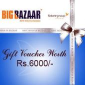 Big Bazaar Gift Voucher 6000 Gifts toPort Blair, sarees to Port Blair same day delivery