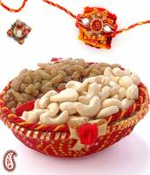 rakhi with Dry fruits Gifts toBasavanagudi, flowers and rakhi to Basavanagudi same day delivery