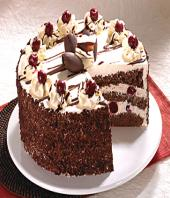 Black Forest small Gifts toCox Town, cake to Cox Town same day delivery
