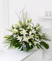 Heavenly White Gifts toBrigade Road, Flowers to Brigade Road same day delivery