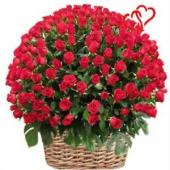 100 red roses basket Gifts toPuruswalkam, Flowers to Puruswalkam same day delivery