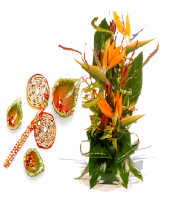 Rangoli and Diya Set with Spring Delight Gifts toPort Blair, combo to Port Blair same day delivery