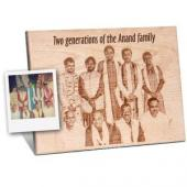Wooden Engraved plaque for Group Photograph Gifts toBasavanagudi, flowers and rakhi to Basavanagudi same day delivery