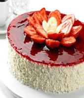 Strawberry cake 1kg Gifts toCox Town, cake to Cox Town same day delivery