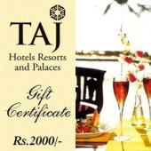 Taj Gift Voucher 2000 Gifts toAmbad, Gifts to Ambad same day delivery