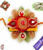 Fancy rakhi Gifts toHAL, flowers and rakhi to HAL same day delivery