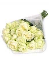 15 Luxury white roses Gifts toHAL, Flowers to HAL same day delivery