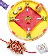 Rakhi Thal Gifts toBasavanagudi, flowers and rakhi to Basavanagudi same day delivery